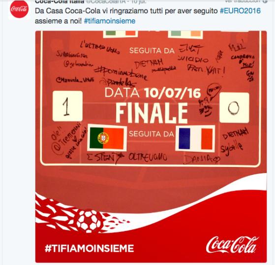 Fuente: @CocaColaITA